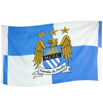 【予約ECM12】マンチェスターシティ 13-14クレスト フラッグ【プレミアリーグ/サッカー/アグエロ/シルバ/Manchester City】ネコポス対応可能