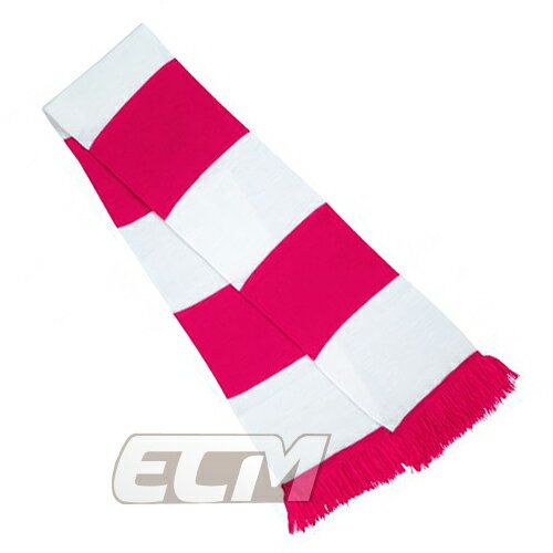 【サポーター必見】ピンク x ホワイト  バーマフラー【サッカー/Jリーグ/応援グッズ/スカーフ】お取り寄せ可能
