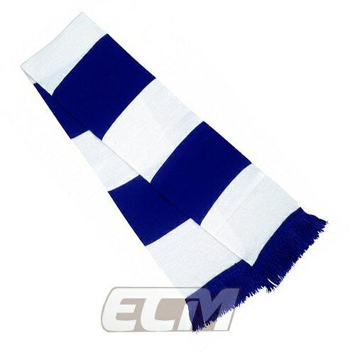 【サポーター必見】ブルー x ホワイト  バーマフラー【サッカー/Jリーグ/応援グッズ/スカーフ】お取り寄せ可能