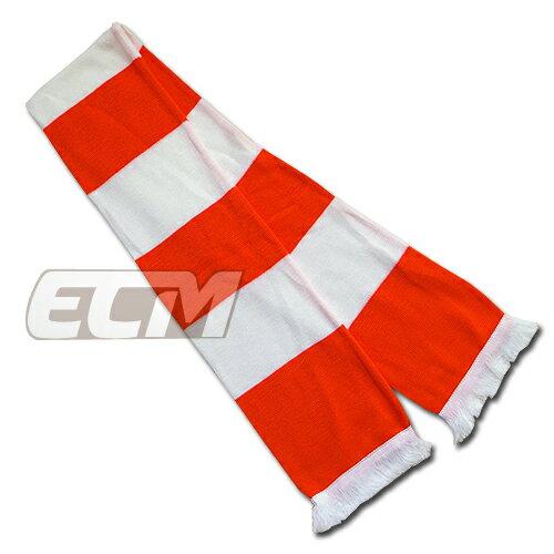 【サポーター必見】オレンジ x ホワイト バーマフラー【サッカー/Jリーグ/応援グッズ/スカーフ】お取り寄せ可能