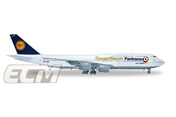 """【予約DFB19】ドイツ代表 ワールドカップ優勝記念 """"herpa wings Lufthansa Boeing 747-8 Intercontinental """"Fanhansa / Siegerflieger""""【ワールドカップ/サッカー/World Cup/ルフトハンザ航空/ボーイング747/ヘルパ/飛行機模型】"""