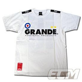 "GRANDE ""PROTO TYPE"" Tシャツ ホワイト【グランデ/サッカー/フットサル/サポーター/プロトタイプ】◆メール便対応商品"