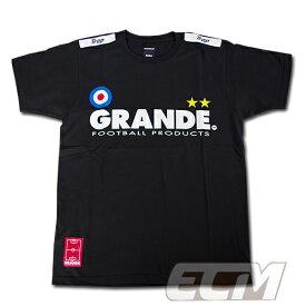 "GRANDE ""PROTO TYPE"" Tシャツ ブラック【グランデ/サッカー/フットサル/サポーター/プロトタイプ】◆メール便対応商品"