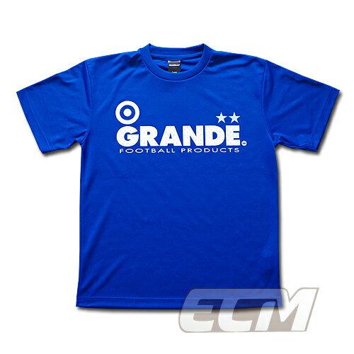 "GRANDE ドライメッシュTシャツ ""DOT"" ブルー【グランデ/サッカー/フットサル/サポーター】◆ネコポス対応可能"