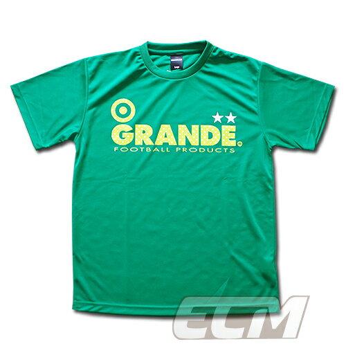 """GRANDE ドライメッシュTシャツ """"DOT"""" グリーン【グランデ/サッカー/フットサル/サポーター】◆ネコポス対応可能"""