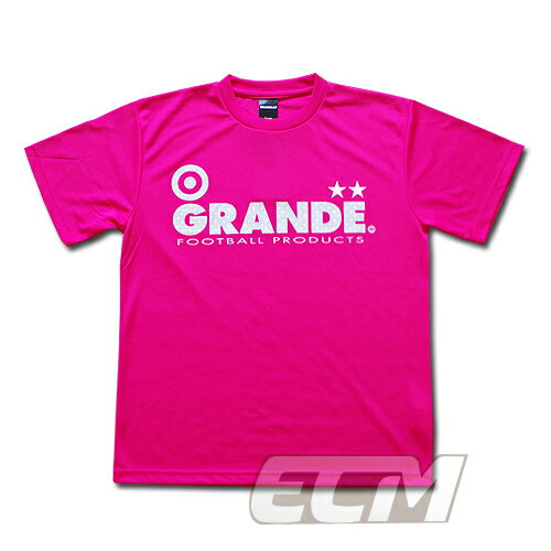 """GRANDE ドライメッシュTシャツ """"DOT"""" ピンク【グランデ/サッカー/フットサル/サポーター】◆ネコポス対応可能"""