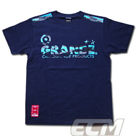 GRANDE CAMO プロトタイプ Tシャツ ネイビー x サックスブルー【サッカー/フットサル/グランデ/サポーター/迷彩/ミリタリー】◆メール便対応商品◆GRN2014SS