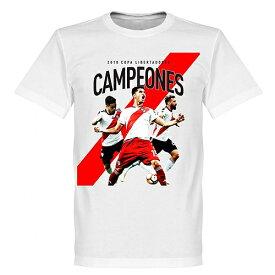 【国内未発売】RE-TAKE リーベル・プレート 優勝記念Tシャツ copa libertadores【サッカー/River Plate/リバープレート/アルゼンチンリーグ】ネコポス対応可能 RET02