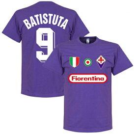 【予約RET06】RE-TAKE フィオレンティーナ Team Tシャツ 9番 バティストゥータ【サッカー/Fiorentina/Batistuta/セリエA/フィオレンチーナ】ネコポス対応可能