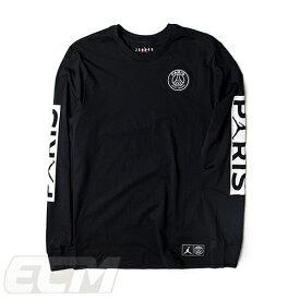【国内未発売】JOR19 長袖ブラックParis Saint-Germain x JORDAN 19ロングスリーブ Tシャツ ブラック【サッカー/PSG/パリサンジェルマン/ジョーダン】