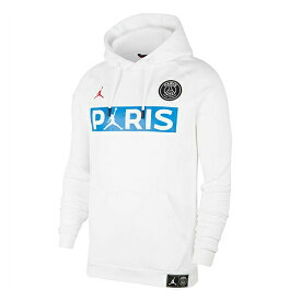 【予約JOR20】【海外買付】白青Paris Saint-Germain x JORDAN プルオーバースウェットパーカー ホワイトxブルー【サッカー/PSG/パリサンジェルマン/ジョーダン】