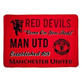 【予約ECM25】【国内未発売】マンチェスターユナイテッド オフィシャル シェルパフリースブランケット 【Blanket/プレミアリーグ/サッカー/Manchester United】