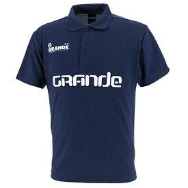 【SALE25%OFF】【GS018】GFPE200011GRANDE BASIC MOVEMENT ドライメッシュ ポロシャツ ネイビー【グランデ/サッカー/フットサル/サポーター】ネコポス対応可能