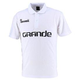 【SALE25%OFF】【GS018】GFPE200011GRANDE BASIC MOVEMENT ドライメッシュ ポロシャツ ホワイト 【グランデ/サッカー/フットサル/サポーター】ネコポス対応可能