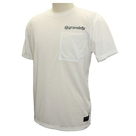 【GRN2019SS】GFPH19001GRANDEFP. シームテープポケット Tシャツ ホワイト【グランデ/サッカー/フットサル/トレーニング】ネコポス対応可能