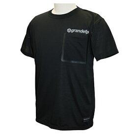【GRN2019SS】GFPH19001GRANDEFP. シームテープポケット Tシャツ ブラックxグレー【グランデ/サッカー/フットサル/トレーニング】ネコポス対応可能