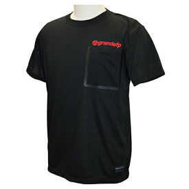 【GRN2019SS】GFPH19001GRANDEFP. シームテープポケット Tシャツ ブラックxレッド【グランデ/サッカー/フットサル/トレーニング】ネコポス対応可能