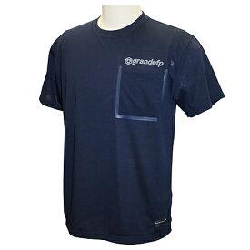 【GRN2019SS】GFPH19001GRANDEFP. シームテープポケット Tシャツ ネイビー【グランデ/サッカー/フットサル/トレーニング】ネコポス対応可能