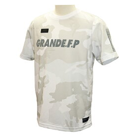 【GRN2019SS】GFPH19002GRANDE FP カモトレーニングメッシュTシャツ ホワイトxグレー【グランデ/サッカー/フットサル/トレーニング】ネコポス対応可能