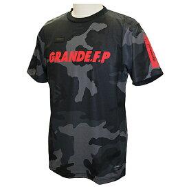 【GRN2019SS】GFPH19002GRANDE FP カモトレーニングメッシュTシャツ ブラックxレッド【グランデ/サッカー/フットサル/トレーニング】ネコポス対応可能