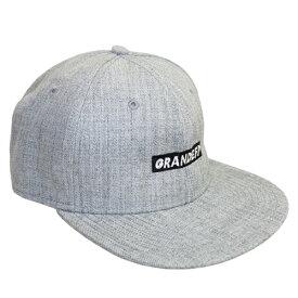 【GRN2019SS】GFPH19904GRANDE.F.P. 刺繍 フラットバイザーキャップ ヘザーグレー【グランデ/サッカー/フットサル/CAP/帽子】