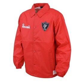 【SALE30%OFF】【GS018】GRANDE ベーシックコーチ ジャケット レッド【グランデ/サッカー/フットサル/ポーター】