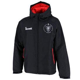 【SALE40%OFF】【GS018】GRANDE ウォーマージャケット ブラック【グランデ/サッカー/フットサル/サポーター/ダウン】