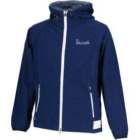 【SALE35%OFF】【GS018】GRANDE CHAMBRAY フーデッドジャケット ネイビーxブルー【グランデ/サッカー/フットサル/サポーター】