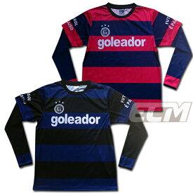 【GOL2018AW】Goleador G2200 フェイクレイヤード昇華ボーダーロングプラシャツ【ゴレアドール/フットサル/サッカー/トレーニング】