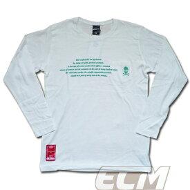 【SALE50%OFF】【GS018】GRANDE スカルポケット ロングスリーブシャツ ホワイト【グランデ/サッカー/フットサル/サポーター/ロンT】GRN2015AW ネコポス対応可能