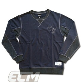 【SALE35%OFF】【GS018】GRANDE OLD TYPE-A スウェットクルートップ ネイビーxグレー【グランデ/サッカー/フットサル/サポーター】