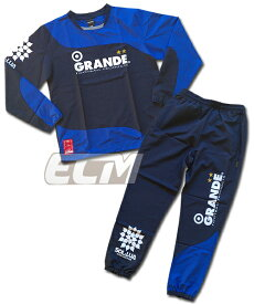 【GRN2016AW】GRANDE ツートンピステ上下セット ネイビーxブルー【グランデ/サッカー/フットサル/サポーター/トレーニング】