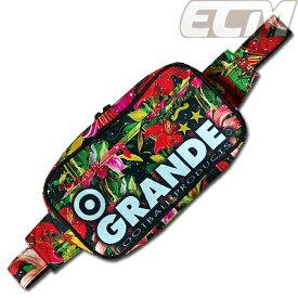 """【SALE30%OFF】【GS018】GRANDE """"Tropical Flor"""" ショルダーバッグ ブラック【グランデ/サッカー/フットサル/サポーター/ボタニカル】GRN2016SS"""