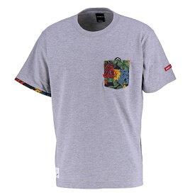 【SALE25%OFF】【GS018】GRANDE ALOHA ポケットTシャツ グレー【サッカー/フットサル/グランデ/サポーター/GFPH18004】ネコポス対応可能