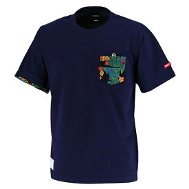 【SALE25%OFF】【GS018】GRANDE ALOHA ポケットTシャツ ネイビー【サッカー/フットサル/グランデ/サポーター/GFPH18004】ネコポス対応可能