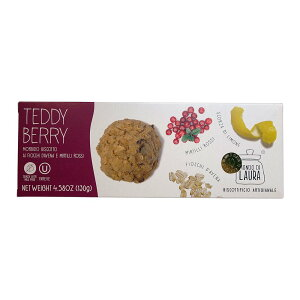 【楽天ランキング2位】モンド ディ ラウラ テディベリー 乳製品不使用 オートミールクッキー 130g Mondo Di Laura TEDDY BERRY 輸入 海外 かわいい お菓子 [正規輸入品]