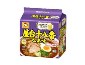 【北海道/東北地区限定】屋台十八番 なま味しょうゆ 5食パック【コシのあるノンフライ麺に、煮干と鰹節の和風だしに炊き出しガラスープを加えた、コクのある醤油味スープ。北海道産