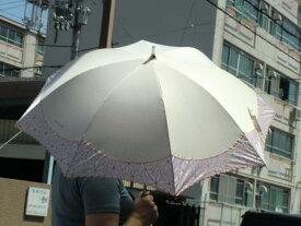 UV晴雨兼用傘/オフホワイト【スライド式】【日傘】【雨傘】【紫外線】【レディース】【RCP】