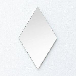 鏡壁掛け北欧貼るトイレミラー鳥小鳥おしゃれ賃貸玄関貼れる一人暮らし洗面洗面鏡クローゼットメイク化粧ノンフレームオシャレかわいいシンプルかがみのかたちことり35×34cm
