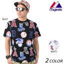 メンズ 半袖 Tシャツ Majestic マジェスティック MM01-MLB-0260 EX1 C23