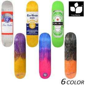 スケートボード デッキ THREE WEATHER スリーウェザー SUPER HARD DECK TW0140 GG K24