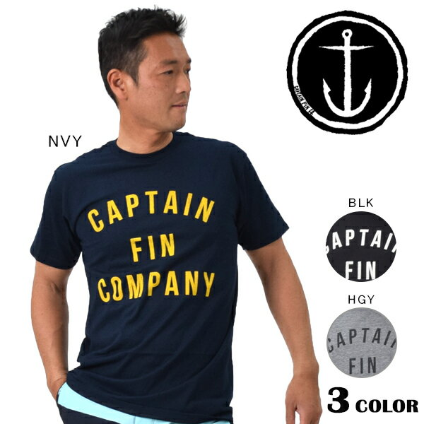 SALE セール 58%OFF メンズ 半袖Tシャツ CAPTAIN FIN キャプテンフィン PTEE COLLEGE CFM3231515 EE1 A15