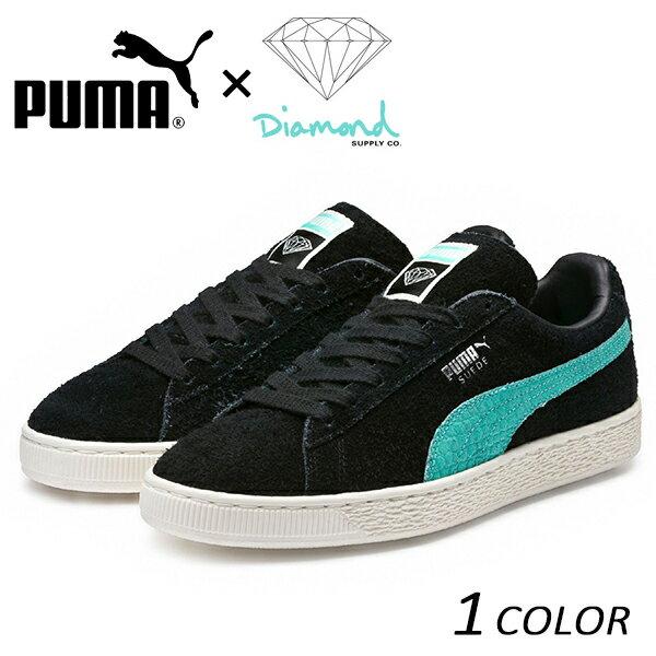 送料無料 シューズ PUMA プーマ PUMA SUEDE x Diamond Supply Co. 365650-01 PUMA BLACK-DIAMOND BLUE コラボ Diamond ダイヤモンド SK8 Skateboarding 365650 スケーター スニーカー スケート FX1 A20