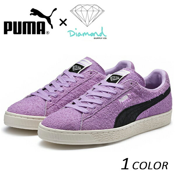 送料無料 シューズ PUMA プーマ PUMA SUEDE x Diamond Supply Co. 365650-02 ORCHID BLOOM-PUMA BLACK FX1 A23 MM