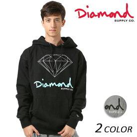 メンズ パーカー Diamond Supply Co. ダイヤモンド サプライ LOGO OG SIGN HOODIE Z18DMPF002CR FF1 D3 【返品不可】