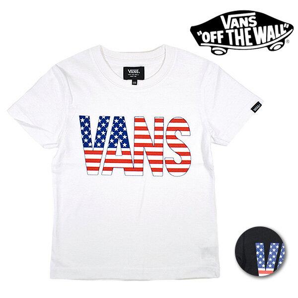キッズ ジュニア 半袖 Tシャツ VANS バンズ VA18SS-KT52MS (120cm〜160cm) ムラサキスポーツ限定 FF1 E19