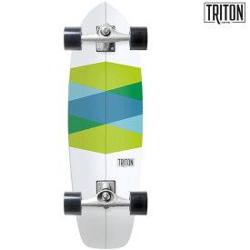 送料無料 サーフ スケートボード コンプリート CARVER カーバー TRITON GREEN GLASS CX GG F12