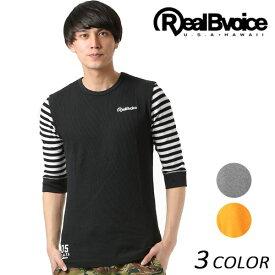 Real.B.Voice リアルビーボイス メンズ 七分袖 Tシャツ 10011-10001 FF1 C9