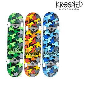 送料無料 スケートボード コンプリートセット KROOKED クルキッド BIRDCAMO FF G12 MM
