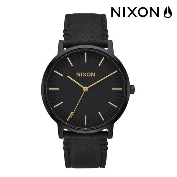 送料無料 時計 NIXON ニクソン PORTER LEATHER A1058 1031 FF G5